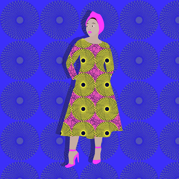 Outfit Digital Art - Ankara Wow by Claire Huntley