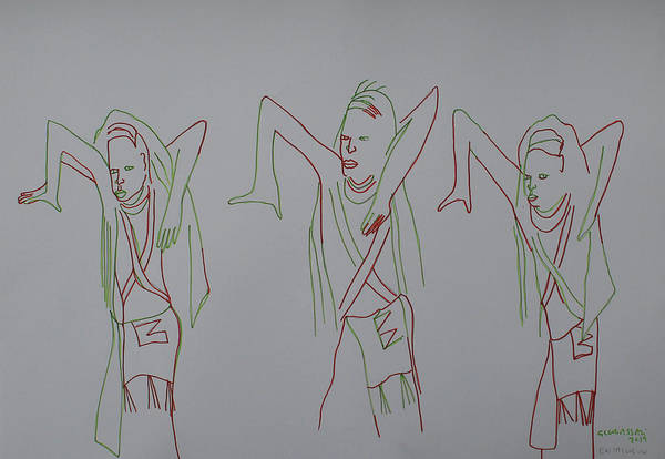 Painting - Ankole Traditional Dance Ekitaguriro Uganda by Gloria Ssali