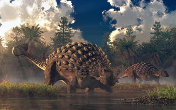 Digital Art - Ankylosaurs by Daniel Eskridge