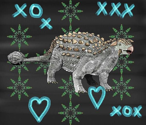Drawing - Ankylosaurus Xs Abd Os by Joan Stratton