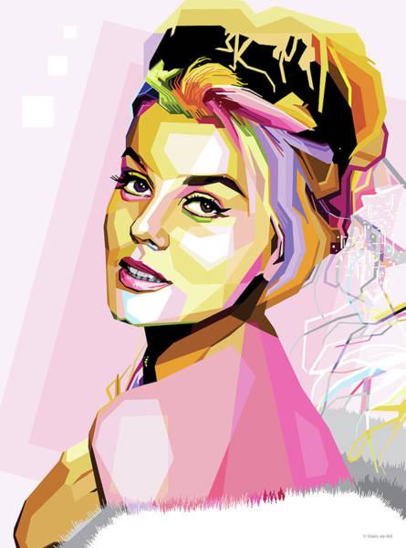 Wall Art - Digital Art - Ann-margret Pop Art by Stars on Art