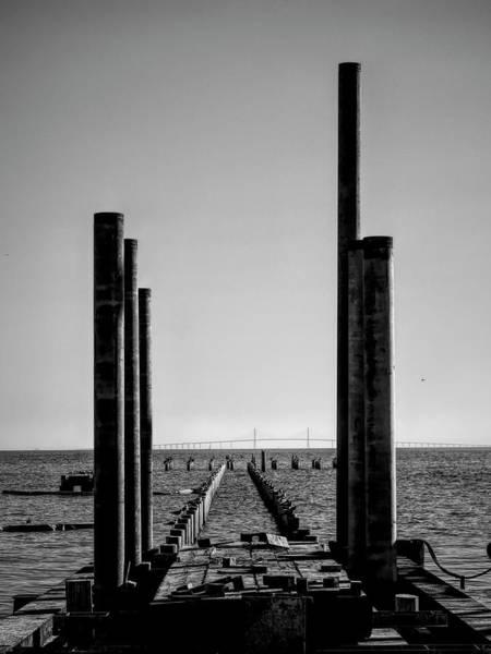 Photograph - Anna Maria City Pier Rebuild 2019 by Robert Stanhope
