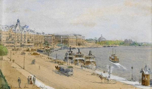 Wall Art - Painting - Anna Palm  1859-1924  View Of The Grand Hotel by Celestial Images