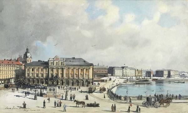 Wall Art - Painting - Anna Palm De Rosa   1859 1924 Landscape  6 by Celestial Images