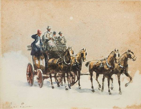Wall Art - Painting - Anna Palm De Rosa  1859 1924   On The Road by Celestial Images