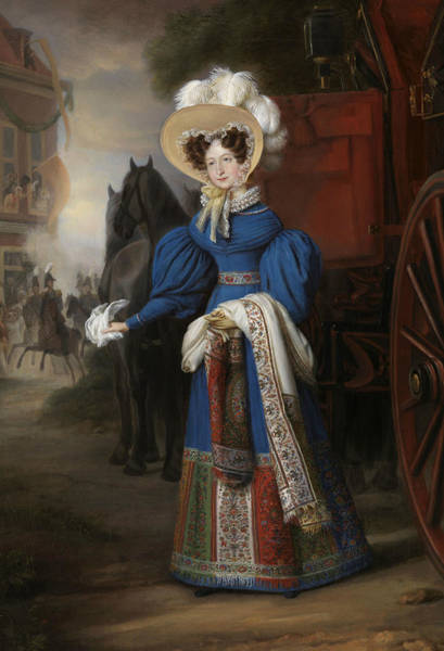 Painting - Anna Paulowna by Jan Baptist van der Hulst