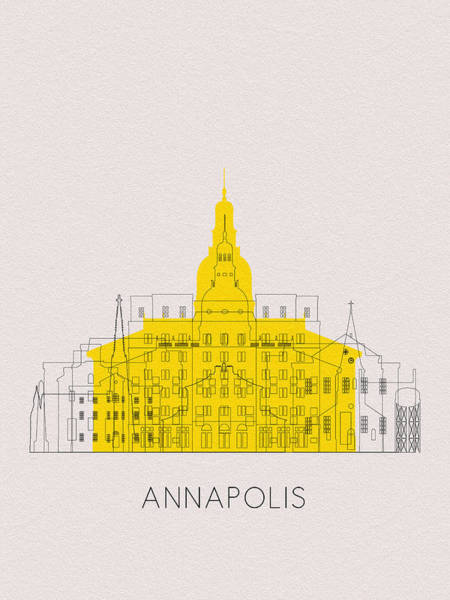 Wall Art - Digital Art - Annapolis Landmarks by Inspirowl Design