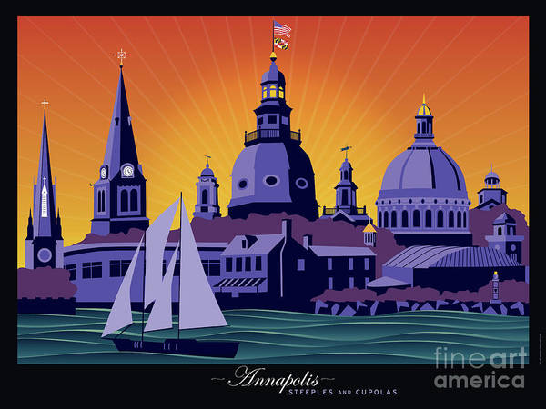Cupola Digital Art - Annapolis Steeples And Cupolas by Joe Barsin
