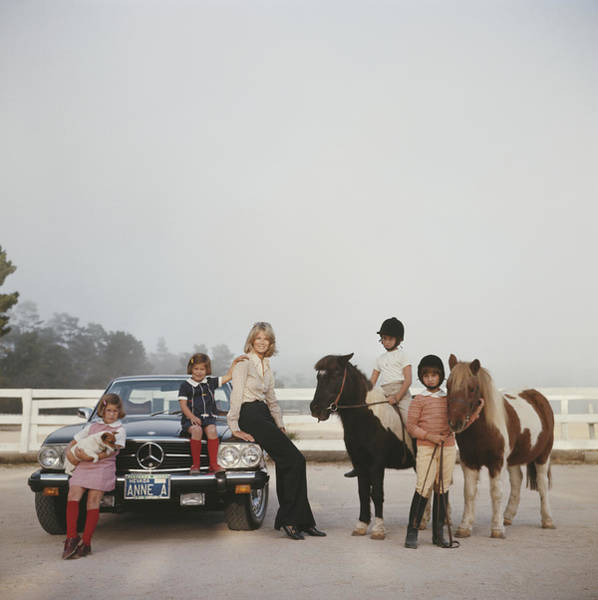 Domestic Animals Photograph - Anne Anka by Slim Aarons