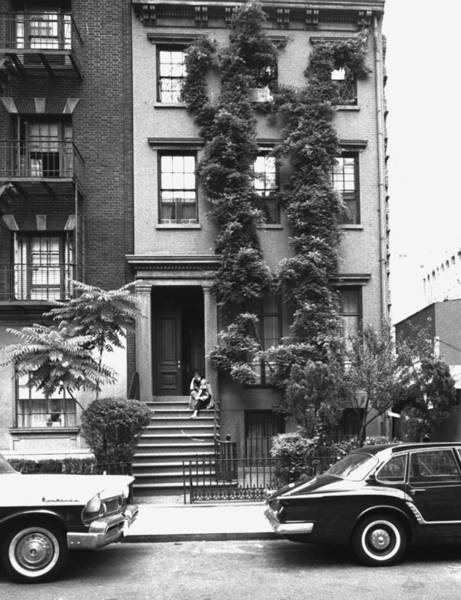 Greenwich Village Photograph - Anne Bancroft Sitting On Stoop Outside by New York Daily News Archive