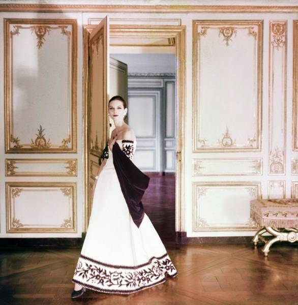 Lanvin Photograph - Anne St. Marie Wearing Lanvin-castillo by Henry Clarke