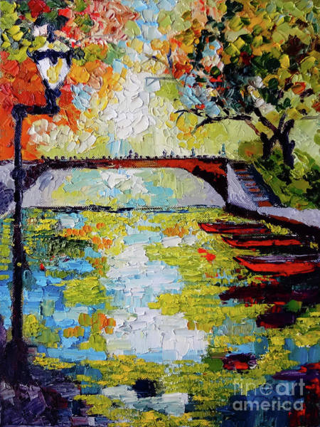 Painting - Annecy Canal France by Ginette Callaway