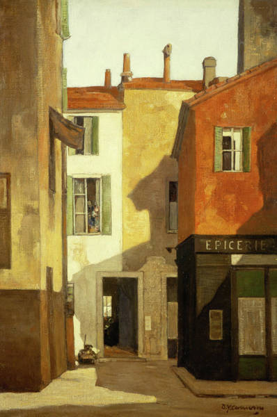 Narrow Street Painting - Annette Street by David Young Cameron