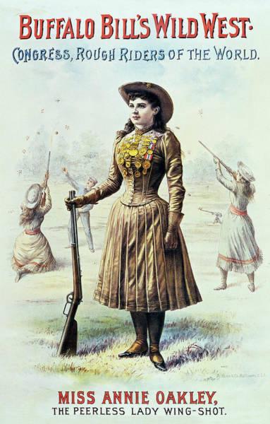Wall Art - Photograph - Annie Oakley - Expert Marksman Of The Buffalo Bill Wild West Show C. 1885 by Daniel Hagerman
