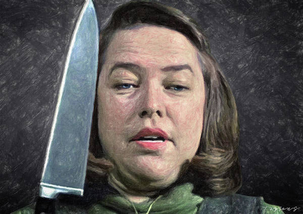 Serial Killer Painting - Annie Wilkes by Zapista Zapista