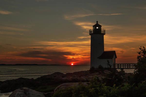 Wall Art - Photograph - Annisquam Lighthouse Silhouette Light by Tim Kirchoff