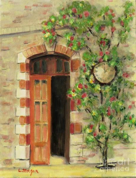 Painting - Annot, France Train Station by Laurie Morgan