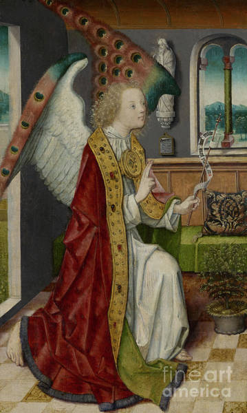 Wall Art - Painting - Annunciation, 1490 Detail by German School