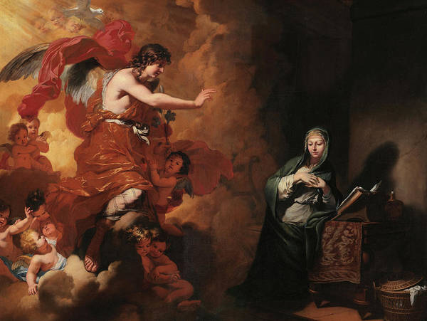 Wall Art - Painting - Annunciation, 17th Century by Gerard de Lairesse