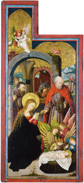 0 Painting - Anonymous German Artist Active In Swabia Ca. 1515 -active In Swabia Ca. 1515-. The Adoration Of ... by Anonymous German Artist active in Swabia ca 1515