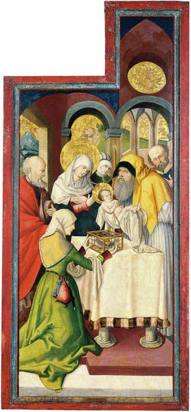 0 Painting - Anonymous German Artist Active In Swabia Ca. 1515 -active In Swabia Ca. 1515-. The Presentation ... by Anonymous German Artist active in Swabia ca 1515