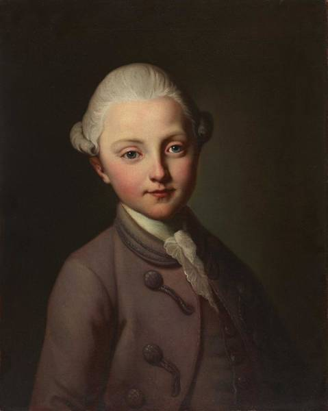 Wall Art - Painting - Anonymous  Portrait Of A Boy From The Sigmund Rudolf Frisching  1773  by Celestial Images