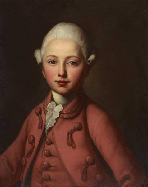 Wall Art - Painting - Anonymous   Portrait Of A Boy From The Von Frisching Family  1773  by Celestial Images