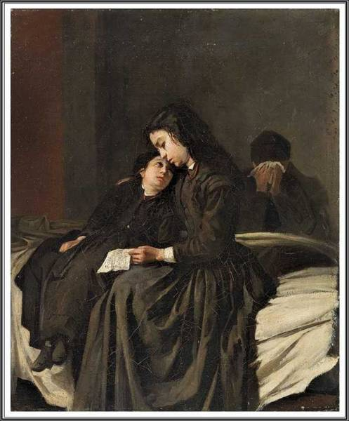 Wall Art - Painting - Anonymous Xixth Century  The Bad News. by Celestial Images
