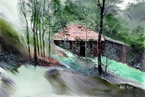 Painting - Another Farm House by Anil Nene