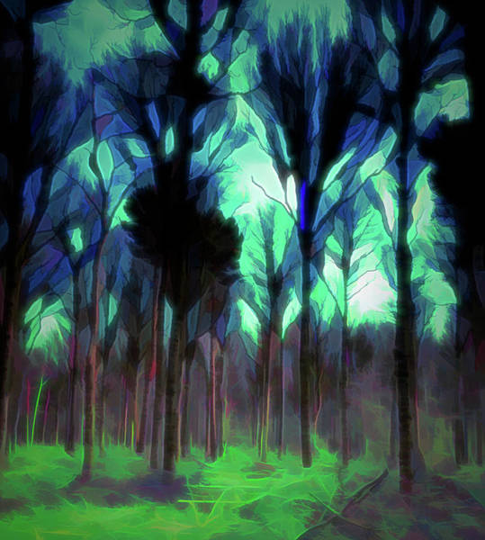 Digital Art - Another World - Forest by Scott Lyons