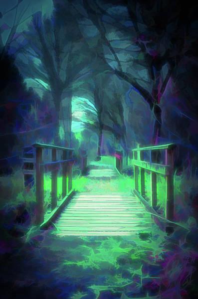 Digital Art - Another World - Wooden Bridge by Scott Lyons