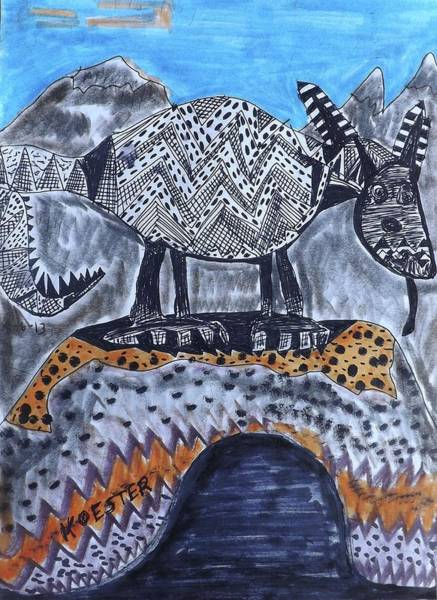 Ant Mixed Media - Anteater Hill by Don Koester