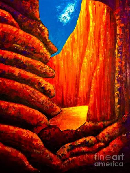 Painting - Antelope Canyon  by Allison Constantino