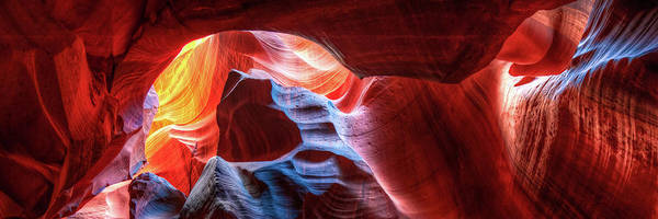 Photograph - Antelope Canyon Colorful Shades Of Light by Gregory Ballos