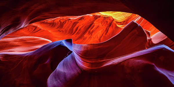 Photograph - Antelope Canyon World Of Colors - Panoramic Format by Gregory Ballos