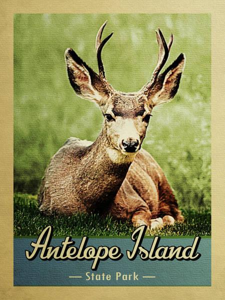 Wall Art - Digital Art - Antelope Island State Park Deer by Flo Karp