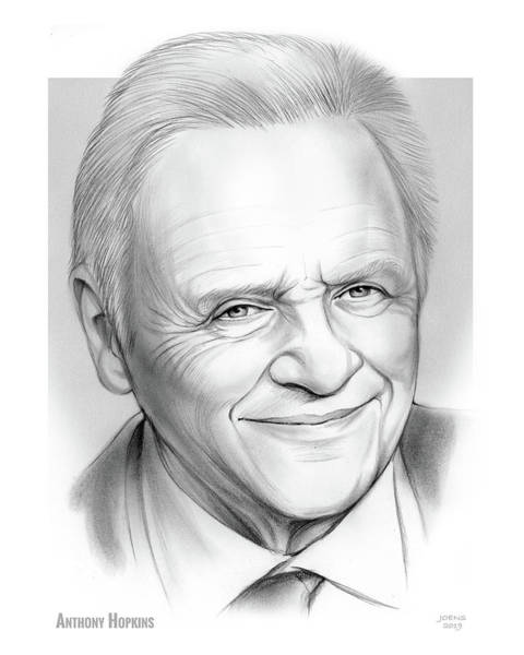 Wall Art - Drawing - Anthony Hopkins  by Greg Joens