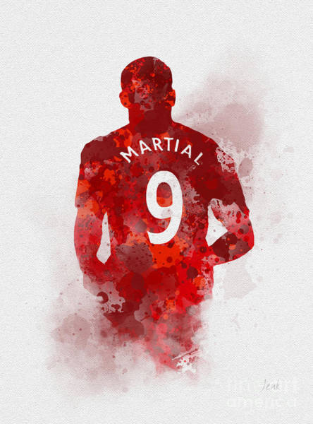 Wall Art - Mixed Media - Anthony Martial by My Inspiration