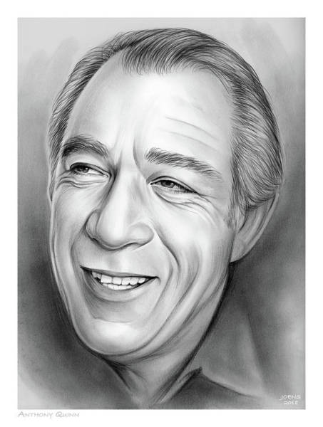 Wall Art - Drawing - Anthony Quinn by Greg Joens