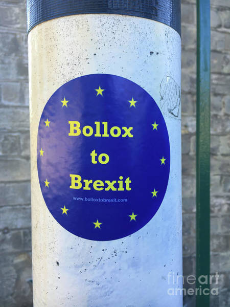 Wall Art - Photograph - Anti Brexit Sticker by Tom Gowanlock