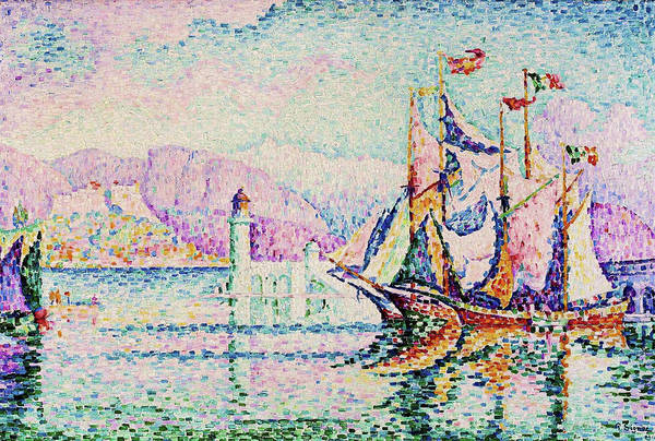 Neo-impressionism Wall Art - Painting - Antibes, Morning - Digital Remastered Edition by Paul Signac