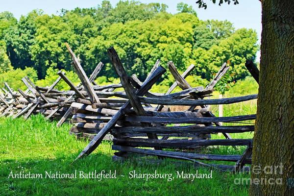 Photograph - Antietam Battlefield Fence by Patti Whitten