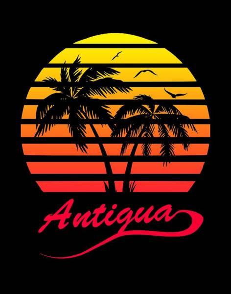 Wall Art - Digital Art - Antigua Sunset by Filip Hellman