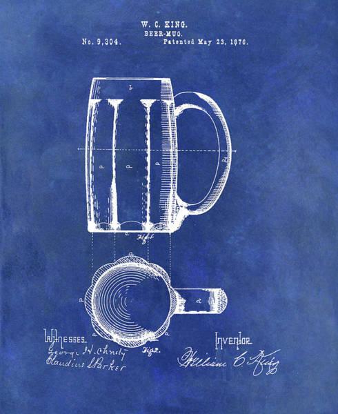 Drawing - Antique Beer Mug Design by Dan Sproul