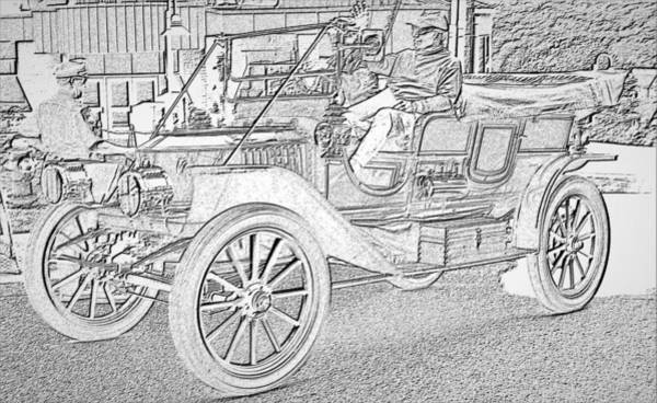 Photograph - Antique Car 1 by Charles HALL