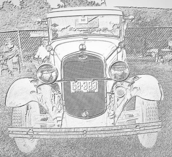 Photograph - Antique Car 2 by Charles HALL