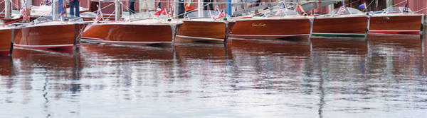 Photograph - Antique Classic Wooden Boats In A Row Panorama 81112p by Rick Veldman