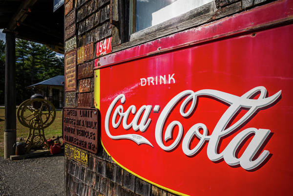 Wall Art - Photograph - Antique Coca Cola Sign, Wells, Maine by Panoramic Images