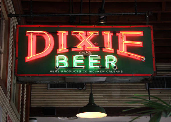 Photograph - Antique Dixie Beer Neon Sign by Debi Dalio