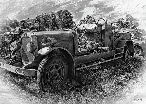 Photograph - Antique Firetruck V3 by Wesley Nesbitt